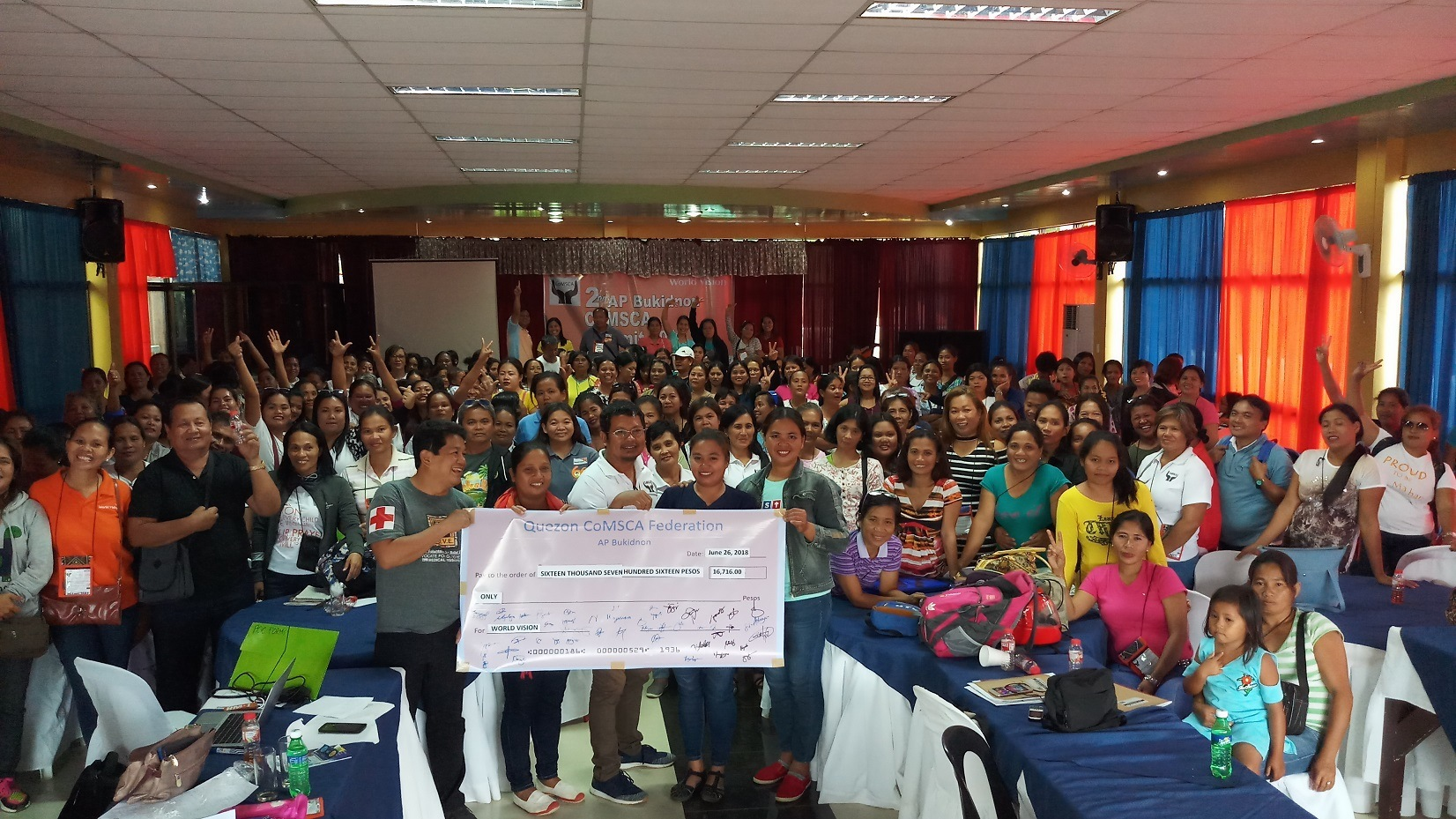 Savings group in Bukidnon donates money to World Vision